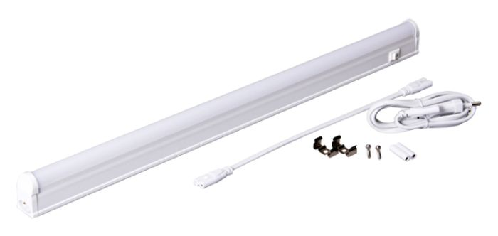 Светильник светодиодный Jazzway PLED T5i PL 450, линейный, IP40, 4000K, 6 Вт.2850607Jazzway Светильник LED линейный PLED T5i PL 450 6W 4000K белый 483х22х36mm