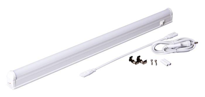 Светильник светодиодный Jazzway PLED T5i PL 600, линейный, IP40, 4000K, 8 Вт.2850621Jazzway Светильник LED линейный PLED T5i PL 600 8W 4000K белый 572х22х36mm