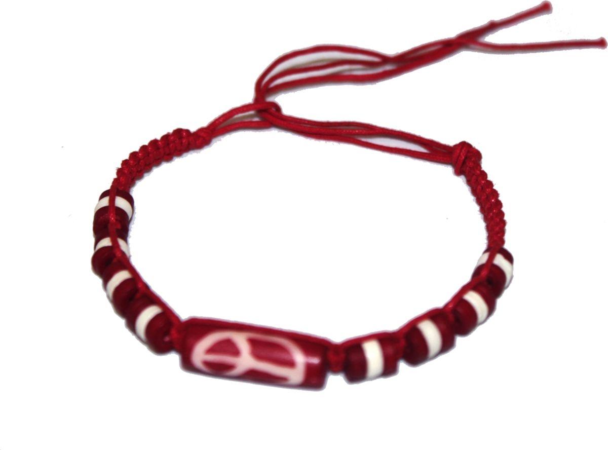 Браслет Ethnica, цвет: красный. 419015Глидерный браслетСтильный браслет-фенечка ручной работы Ethnica, выполненный из нитей с натуральными костяными бусинами, отлично впишется как в мужской, так и в женский образ. Размер браслета регулируется с помощью петли.Классика среди повседневных аксессуаров, фенечка поможет экспериментировать со своим образом, привнося в него новые краски и настроение.