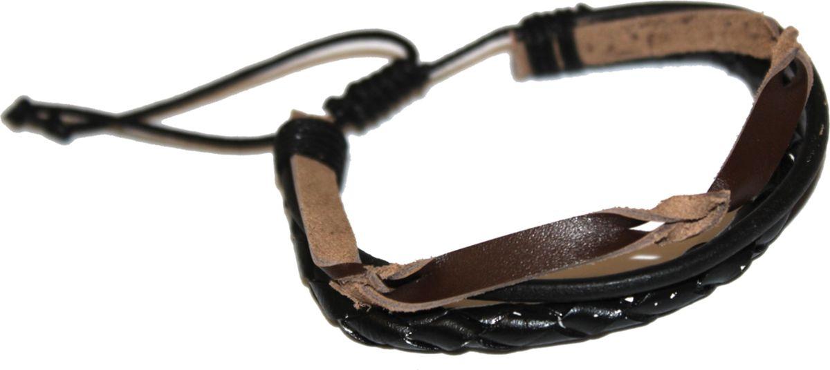 Браслет Ethnica, цвет: черный, коричневый. 2000042653569Браслет с подвескамиСтильный браслет Ethnica, выполненный из натуральных кожаных шнурков разной формы, отлично впишется как в мужской, так и в женский образ. Размер браслета регулируется благодаря удобному скользящему замку.Трендовый кожаный браслет будет смотреться оригинально как в деловом стиле, так и в брутальном casual-образе.