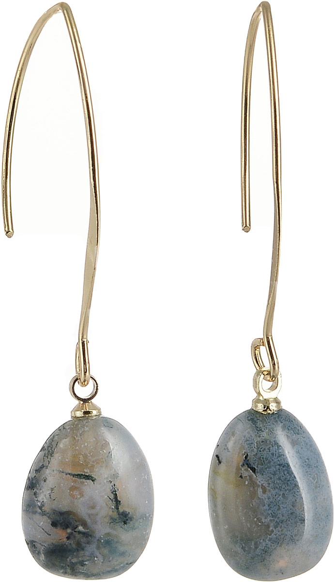 Серьги женские Bradex Шпинель, цвет: черный. AS 0244Серьги с подвескамиСерьги «Шпинель» - это два гладко отшлифованных полудрагоценных камня-аметиста неправильной формы, подвешенных на утонченно изогнутых металлических дужках. Металлические части изделия покрыты сверкающим золотистым напылением.