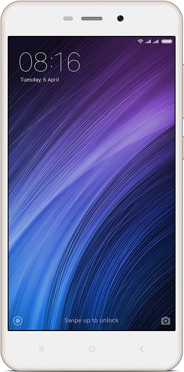 Xiaomi Redmi 4A (16GB), GoldT034005Смартфон Xiaomi Redmi 4A стал более миниатюрным, а также обрел продолжительный автономный режим. Обладая пятидюймовым HD экраном и объемным аккумулятором в 3120 мАч, Redmi 4A весит всего лишь 131 г, а благодаря шелковистому матовому пластиковому корпусу и миниатюрным габаритам, вы вовсе не захотите выпускать его из рук.Xiaomi Redmi 4A снабжен энергоемким аккумулятором объемом в 3120 мАч, который, будучи дополненным системой MIUI8 с экономичным расходом энергии на системном уровне, а также множеством различных энергосберегающих технологий, внедренных в экран и процессор, позволяет смартфону продлить автономный режим до 7 дней.Основная камера с разрешением в 13 мегапикселей, позволит вам максимально реалистично сохранить все воспоминания: от встреч с друзьями до красивейших пейзажей. Вы устали от сортировки фотографий? Не проблема, ведь теперь смартфон не только сам может разделять снимки по альбомам и сортировать их по дате съемки, но и позволит в движении просматривать панорамные снимки, а также сохранит все скриншоты в отдельном, специально предназначенном альбоме.Встроенная функция клонирования телефона, активируемая в настройках, поможет смартфону обрести два отдельных системных пространства, одно из которых вы можете использовать, например, для повседневных дел, а второе - для своих маленьких секретов. С помощью разных ключей блокировки можно попасть в разные системные пространства, также можно открыть личные аккаунты, раздельно сохранять личные фотографии и коммерческие тайны, как будто вы имеете два телефона вместо одного.64-разрядный процессор с улучшенными техническими характеристиками Qualcomm Snapdragon 425, поддерживающий Cortex A53, улучшил вычислительные способности смартфона, а при помощи графического процессора Adreno 308, Redmi 4A сможет мгновенно открывать не только приложения, но и объемные 3D игры.Помимо выдающегося качества изображения, 5-дюймовый HD экран Redmi 4A также заботливо предоставляет режим защиты зрен