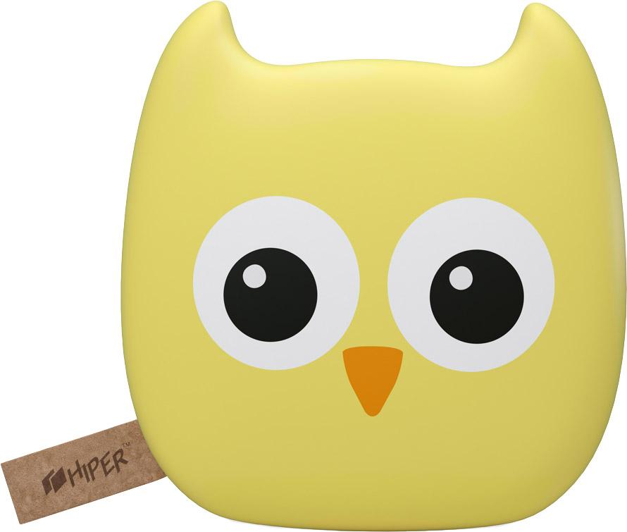 HIPER Zoo, Owl внешний аккумулятор (7500 мАч)OWL 7500 ZOOВнешний аккумулятор Hiper Zoo будет отличным приобретением как для взрослого, так и для ребенка. Он стилизован под забавную зверушку, но при этом сохраняет вполне серьезную функциональность – ёмкости батареи в 7500 мАч достаточно для трехкратной перезарядки современного смартфона.Универсальное применение. Аккумулятор может работать с телефонами, навигаторами, плеерами и высокопроизводительными планшетами – сила тока на контактах портов USB достигает 1 и 2,1 А.Удобство использования. Компактное зарядное устройство легко помещается в карман, небольшую сумочку или чехол для ноутбука. Прорезиненный корпус с эффектом софт-тач делает его приятным на ощупь и помогает надежно удерживать гаджет в руках даже при активном движении.Встроенный индикатор. Четыре светодиода отображают уровень остаточного заряда батареи, помогая не остаться без резервного источника питания в самый неподходящий момент.