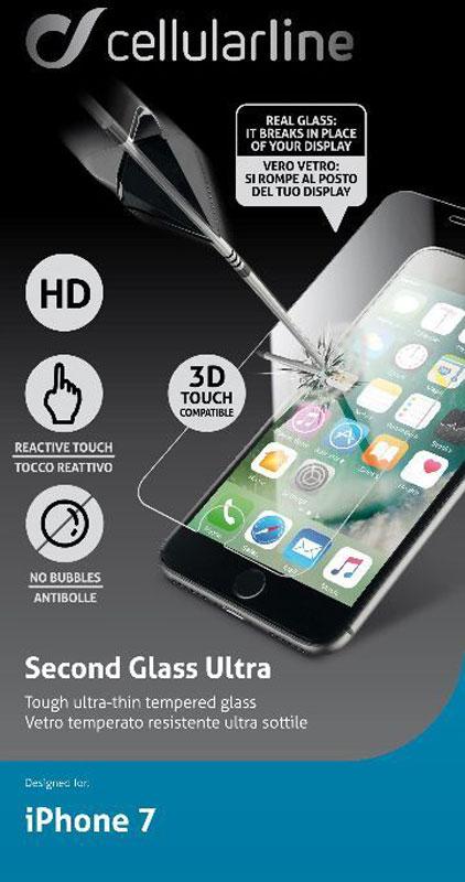 Cellular Line защитное стекло для iPhone 7TEMPGLASSIPH747Защитное стекло Cellular Line для iPhone 7 обеспечивает надежную защиту сенсорного экрана устройства от большинства механических повреждений и сохраняет первоначальный вид дисплея, его цветопередачу и управляемость. В случае падения стекло амортизирует удар, позволяя сохранить экран целым и избежать дорогостоящего ремонта. Стекло обладает особой структурой, которая держится на экране без клея и сохраняет его чистым после удаления. Силиконовый слой предотвращает разлет осколков при ударе.