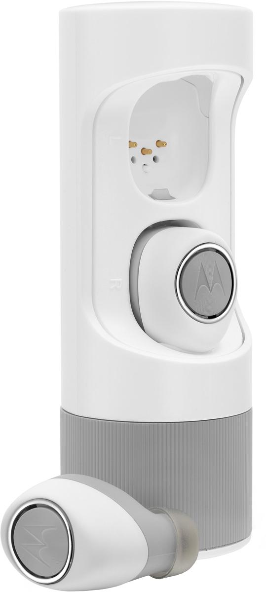 Motorola Verve Ones ME, White bluetooth гарнитура00-00008279Беспроводная стерео гарнитура Bluetooth 4.1Инновационный стильный дизайн;3 часа работы от собственных батарей и 4,5 часов работы с дозарядкой от защитного Power-case; Встроенный микрофон для звонков;Приложение для iOS и Android;3 амбушюры для выбора идеальной посадки;Защитный Power-case.