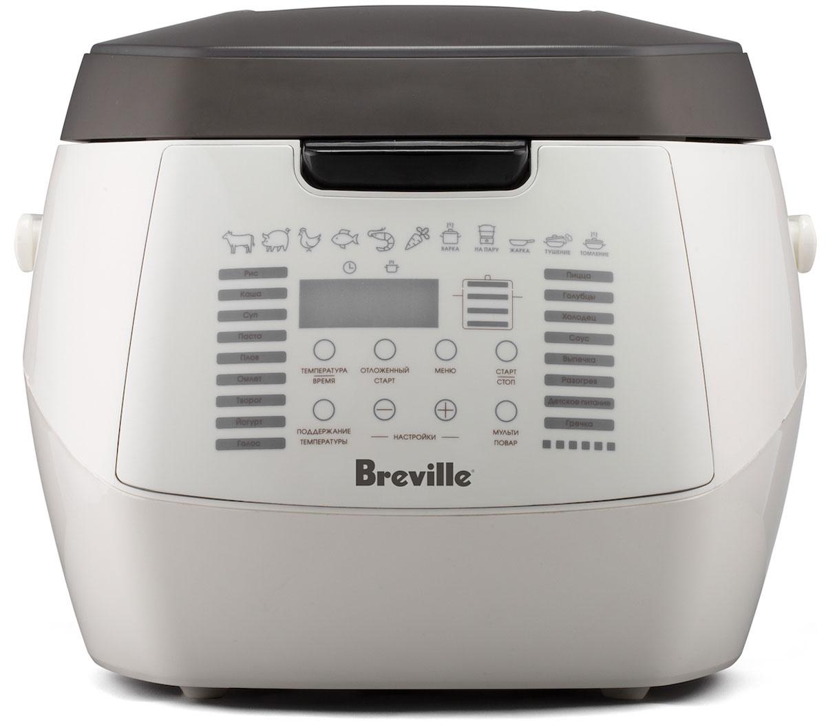 Breville U360 мультиварка67584Мультиварка Breville U360 - отличное решение для повседневного приготовления пищи без лишних хлопот. Вместительная чаша позволит готовить порции сразу на всю семью.Данная модель оснащена 16 автоматическими программами, которые включают в себя режимы для приготовления круп, плова, омлета, кисломолочных продуктов, пиццы, выпечки, и даже детского питания. А с режимом Мультиповар можно выставить собственные настройки для приготовления собственных блюд.Мультиварка оснащена удобным сенсорным управлением и имеет цифровой дисплей, где отображается ход работы. Важной особенностью данной модели является голосовое сопровождение с подсказками на каждом этапе приготовления. Громкость можно регулировать вплоть до полного отключения.Для тех, у кого мало времени, предусмотрена опция Отсрочка старта. Заложите продукты, выберите программу, а прибор все сделает за Вас по истечении заданного времени. Это позволяет получить готовое горячее блюдо к нужному времени.Благодаря антипригарному покрытию части блюда не останутся на стенках чаши. 3D нагрев обеспечивает равномерное распределение тепла для одновременного приготовления пищи со всех сторон.