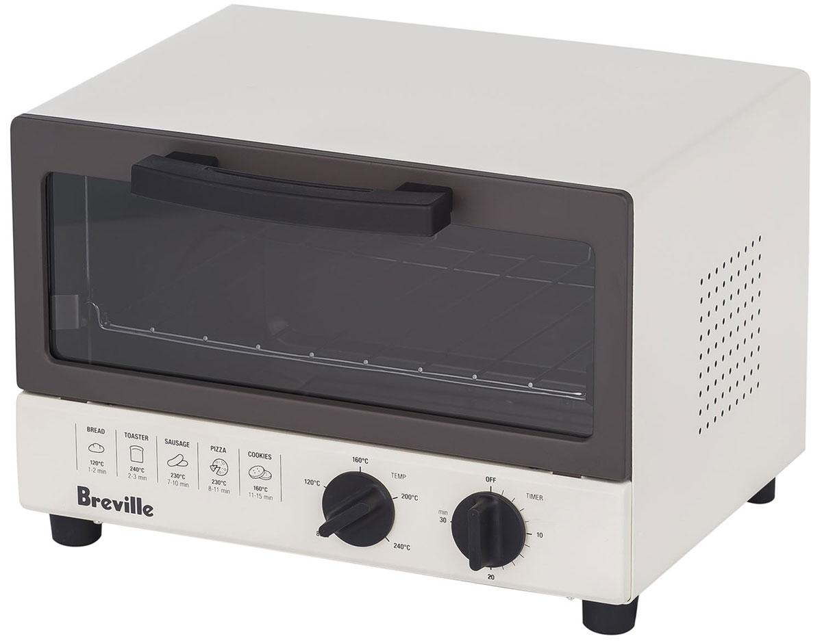 Breville W360 мини-печь67094Breville W360 - компактная мини-печь, в которой предусмотрено пять режимов работы. Выбирая их, пользователь может разогреть сэндвичи, обжарить сосиски, испечь печенье или приготовить пиццу. Оптимальная температура и время нагрева для каждого блюда указаны на передней панели прибора.Мини-печь имеет механическое управление при помощи пары поворотных регуляторов. Поддерживается 5 температурных режимов работы: 80°С, 120°С, 160°С, 200°Си 240°С. Есть возможность установить 30-минутный таймер. Автоматический контроль температуры защищает прибор от перегрева и поломки. Внутренняя камера мини-печи Breville W360 имеет антипригарное покрытие, что позволяет поддерживать чистоту безо всяких усилий. Удобство ухода обеспечивается также наличием выдвигающегося поддона для крошек.Дверца изготовлена из закаленного стекла. Она откидывается при помощи ручки, при этом происходит автоматическое выдвижение противня – производить закладывание и выемку готовых блюд очень удобно.