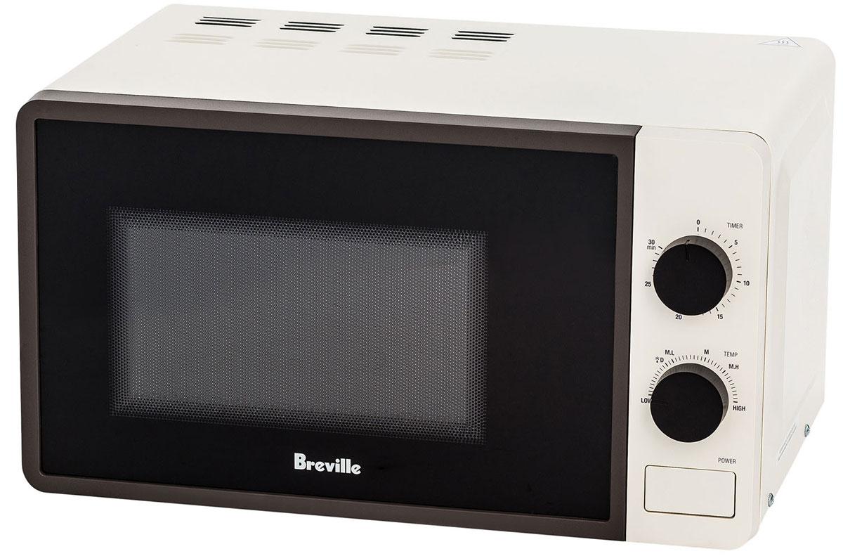 Breville W365 СВЧ-печь67093Breville W365 - СВЧ-печь с простым и надежным механическим управлением и базовым функционалом. Объем внутренней камеры печи составляет 20 л. Максимальная выходная мощность микроволн – 700 Вт, всего предусмотрено 6 режимов, позволяющих экспериментировать с приготовлением блюд.Панель управления печи Breville W365 представляет собой два поворотных переключателя, при помощи которых задается уровень мощности и время приготовления. Механический таймер устанавливается на срок до 30 минут. В конце заданной программы прозвучит звуковой сигнал. Внутренняя камера снабжена подсветкой, которая активируется во время работы печи и при открытой дверце. Дверца печи навесная и открывается при помощи кнопки. Печь снабжена вращающимся стеклянным подносом диаметром 24,5 см.
