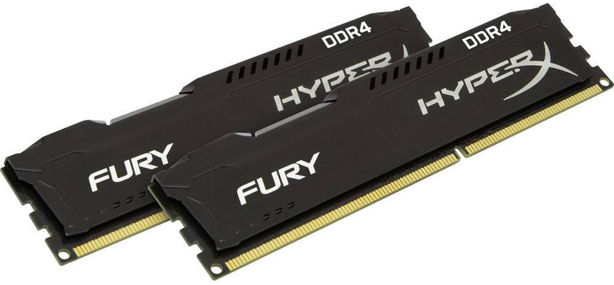 Kingston HyperX Fury DDR4 DIMM 32GB (2х16GB) 2400МГц комплект модулей оперативной памяти (HX424C15FBK2/32)HX424C15FBK2/32Модуль памяти Kingston HyperX Fury DDR4 автоматически разгоняется до максимальной заявленной частоты и обеспечивает максимальную производительность для системных плат с чипсетами Intel серии 100 и X99. Это недорогое решение для использования с 2-, 4-, 6- и 8-ядерными процессорами Intel повышает скорость редактирования видео, 3D-рендеринга, компьютерных игр и AI-процессинга. Его стильный низкопрофильный теплоотвод с характерным дизайном FURY сразу подчеркнет оригинальный внешний вид вашей системы.HyperX Fury DDR4 - это первая линейка продукции, предлагающая автоматический разгон до максимальной заявленной частоты. Получите максимальную скорость без необходимости ручной настройки.Низкое энергопотребление HyperX Fury DDR4 обеспечивает пониженное выделение тепла и высокую надежность. Благодаря низкому напряжению (1,2 В), снижается потребление энергии, что обеспечивает отсутствие нагрева и бесшумную работу ПК.Выделитесь из толпы и придайте своей системе стиль, добавив в нее культовый асимметричный теплоотвод Fury. Модуль памяти HyperX Fury, предлагаемый в черном цвете с черной печатной платой, дополняет системную плату с чипсетами Intel серии 100 и X99.