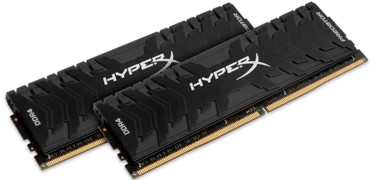 Kingston Predator DDR4 DIMM 16GB (2х8GB) 3333МГц комплект модулей оперативной памяти (HX433C16PB3K2/16)HX433C16PB3K2/16Обеспечьте высокую скорость работы вашего ПК на базе процессора AMD или Intel с помощью модулей памяти Kingston Predator DDR4.Посейте страх в сердцах своих соперников с помощью агрессивного теплоотвода Predator DDR4 в стильном черном цвете. Увеличьте частоту обновления кадров, обеспечьте плавное потоковое вещание и быстрое редактирование видео, благодаря частоте до 4000 МГц и таймингу на уровне CL12-CL19.Профили Intel XMP оптимизированы для новейших чипсетов Intel - для максимальной скорости работы вам нужно просто выбрать соответствующий профиль. Благодаря 100% заводскому тестированию на рабочей частоте и пожизненной гарантии, надежные модули памяти Predator DDR4 обеспечивают оптимальное сочетание высокой производительности и максимальной уверенности.