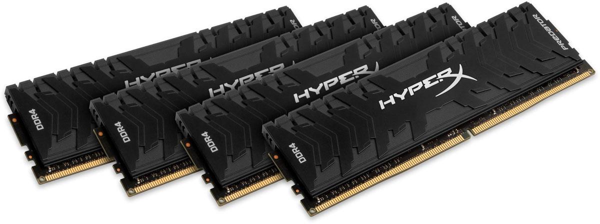 Kingston Predator DDR4 DIMM 32GB (4х8GB) 3200МГц комплект модулей оперативной памяти (HX432C16PB3K4/32)HX432C16PB3K4/32Обеспечьте высокую скорость работы вашего ПК на базе процессора AMD или Intel с помощью модулей памяти Kingston Predator DDR4.Посейте страх в сердцах своих соперников с помощью агрессивного теплоотвода Predator DDR4 в стильном черном цвете. Увеличьте частоту обновления кадров, обеспечьте плавное потоковое вещание и быстрое редактирование видео, благодаря частоте до 4000 МГц и таймингу на уровне CL12-CL19.Профили Intel XMP оптимизированы для новейших чипсетов Intel - для максимальной скорости работы вам нужно просто выбрать соответствующий профиль. Благодаря 100% заводскому тестированию на рабочей частоте и пожизненной гарантии, надежные модули памяти Predator DDR4 обеспечивают оптимальное сочетание высокой производительности и максимальной уверенности.
