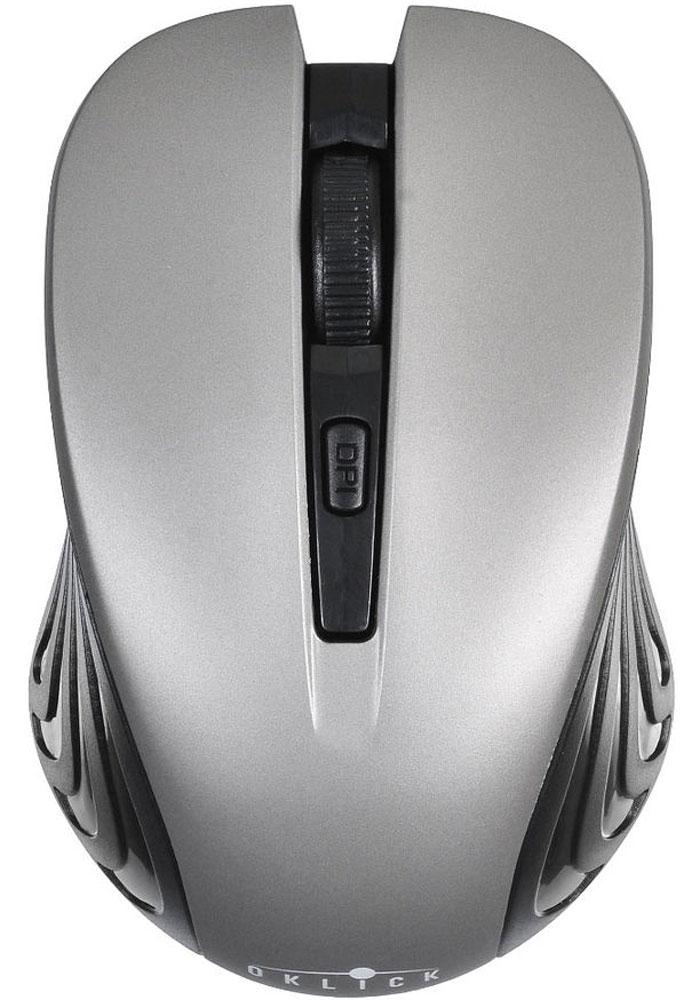 Oklick 545MW, Black Gray игровая мышь545MWМышь Oklick 545MW представляет собой доступное и удобное периферийное устройство для настольного ПК или ноутбука.Благодаря беспроводной технологии вы можете использовать представленную модель не только на рабочем месте, но также в поездках или командировках. Компактные размеры корпуса позволяют без труда уместить мышь в стандартной сумке для ноутбука или рюкзаке.Мышь подключается к компьютеру посредством радио-соединения, это дает возможность использовать манипулятор на расстоянии до 10 метров от источника приема сигнала.Разрешение сенсора составляет 1600 dpi, что обеспечивает высокую точность позиционирования курсора и возможность работы на ограниченном пространстве. Для удобства работы предусмотрено несколько режимов чувствительности сенсора.