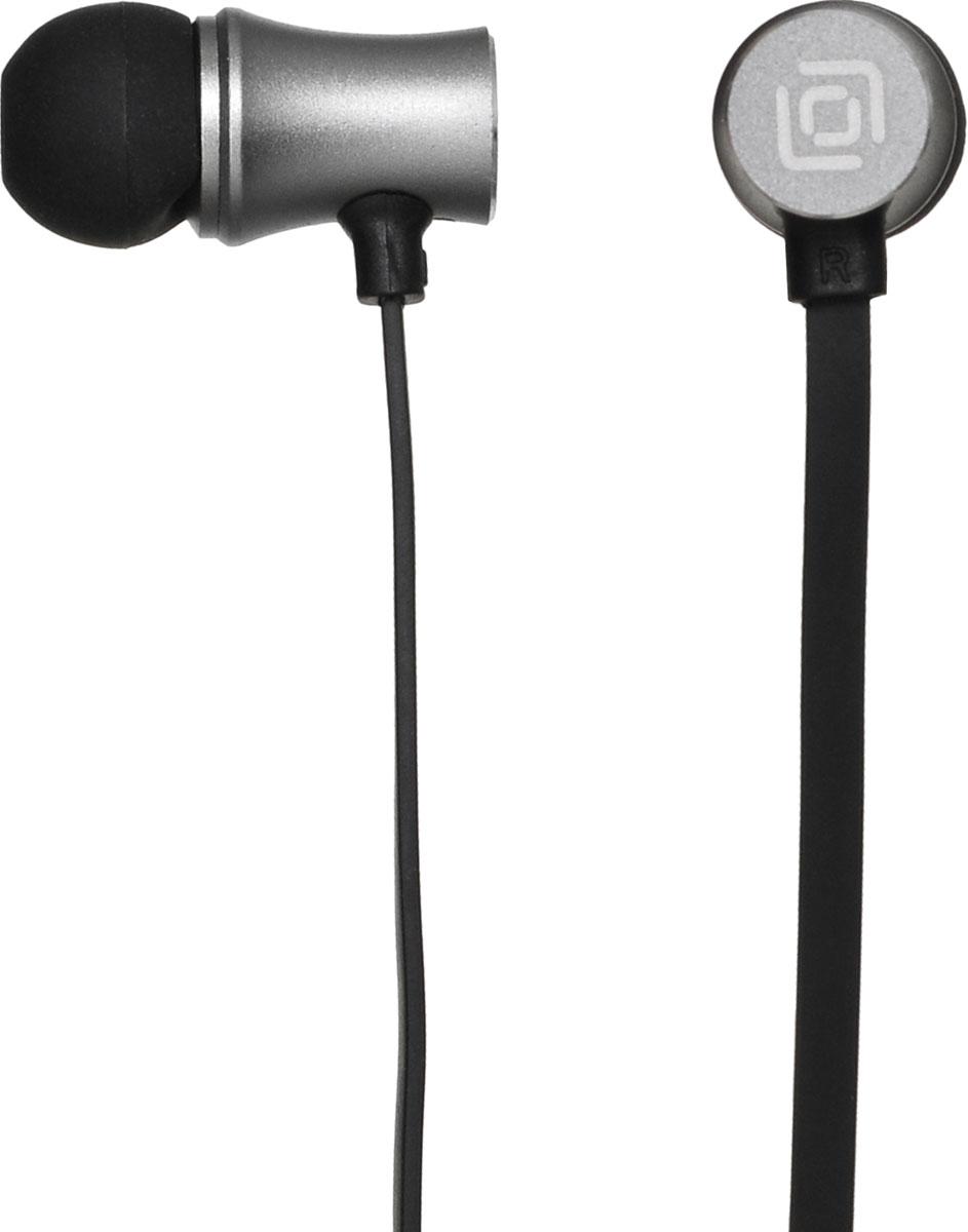 Oklick HS-S-310, Black наушникиHS-S-310Oklick HS-S-310 - подходящий выбор для тех, кто не может представить свою жизнь без любимой музыки отменного качества, звучащей в ушах в пути, во время занятий спортом и любое другое удобное время.Наушники плотно и надежно фиксируются в ушной раковине благодаря специальной форме амбушюр, что выгодно отличает ее от других проводных моделей. Легковесная конструкция делает ношение этого устройства невероятно комфортным.Акустические характеристики гарнитуры Oklick HS-S-310 обеспечивают естественное звучание на средних частотах и четкую детализацию звуков при прослушивании музыки и аудиокниг.Данная модель оснащена кнопкой ответа на вызов и микрофоном, закрепленными на проводе, поэтому ее можно использовать при подключении не только к компактной аудиотехнике, но и смартфону.