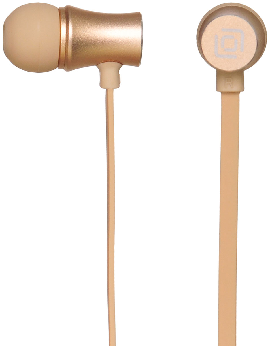 Oklick HS-S-310, Gold наушникиHS-S-310Oklick HS-S-310 - подходящий выбор для тех, кто не может представить свою жизнь без любимой музыки отменного качества, звучащей в ушах в пути, во время занятий спортом и любое другое удобное время.Наушники плотно и надежно фиксируются в ушной раковине благодаря специальной форме амбушюр, что выгодно отличает ее от других проводных моделей. Легковесная конструкция делает ношение этого устройства невероятно комфортным.Акустические характеристики гарнитуры Oklick HS-S-310 обеспечивают естественное звучание на средних частотах и четкую детализацию звуков при прослушивании музыки и аудиокниг.Данная модель оснащена кнопкой ответа на вызов и микрофоном, закрепленными на проводе, поэтому ее можно использовать при подключении не только к компактной аудиотехнике, но и смартфону.