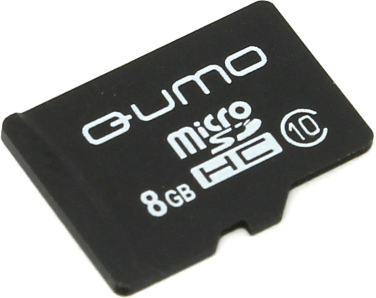 QUMO microSDHC Class 10 8GB карта памятиQM8GMICSDHC10NAУниверсальная карта QUMO microSDHC Class 10 расширяет способность памяти многофункциональных мобильных телефонов, цифровых камер, карманных компьютеров и других портативных устройств, поддерживающие данный формат карт. Идеально подходит для записи любых видов данных. Сохраните больше своих собственных коллекций музыки, видеороликов, кинофильмов, рингтонов, картинок и фотографий.