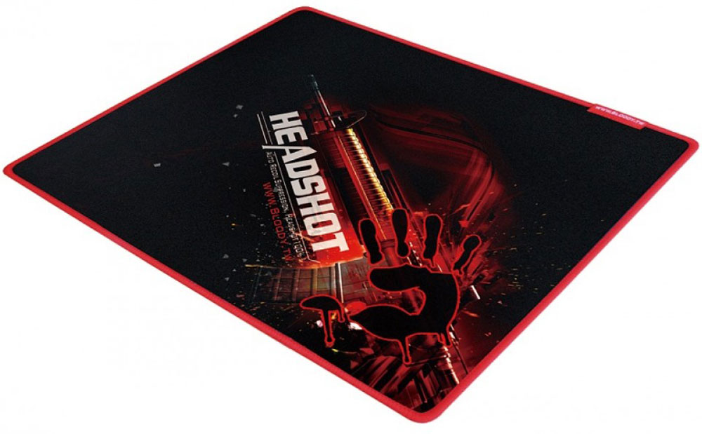 A4Tech Bloody B-072, Black Red игровой коврик для мыши