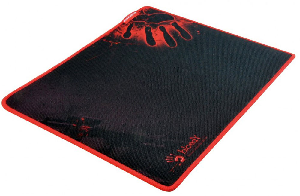 A4Tech Bloody B-080, Black Red игровой коврик для мышиB-080Игровой коврик A4Tech Bloody B-080 идеально подходит для скорости и контроля. Изготовлен из высококачественной резины с тканевым покрытием и обеспечивают лучшую управляемость мыши при любой ее чувствительности. Вы контролируете каждое свое действие самостоятельно! Игровой коврик имеет гладкую и текстурированную поверхность, что позволяет мыши скользить с высокой точностью.Мягкий и гибкий коврик легко скрутить и взять с собой. Гладкая поверхность для быстрого и точного движения мыши. Края прошиты защитной ниткой красного оттенка для высокой износостойкости.