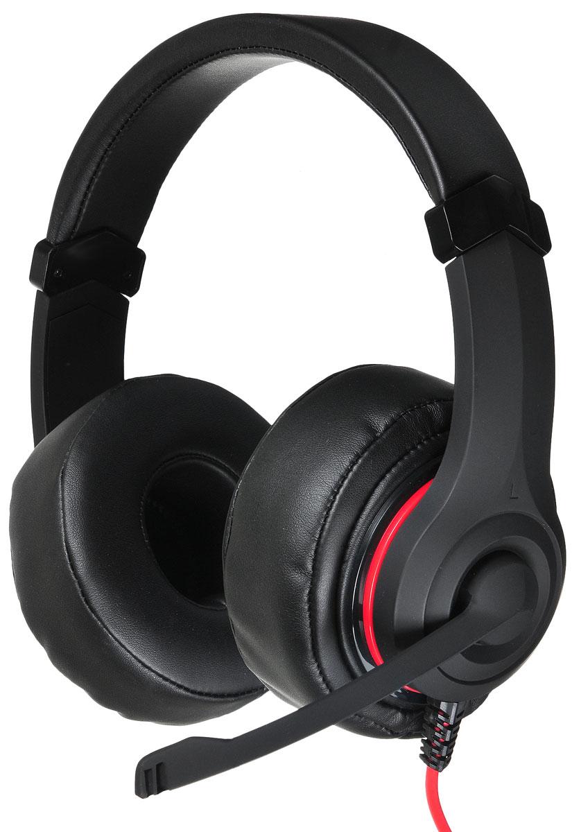 Oklick HS-L330G Nightmare, Black игровые наушникиHS-L330GТеперь Oklick представляет игровую гарнитуру HS-L330G Nightmare. Она относится к гарнитурам закрытого типа, обладает встроенным микрофоном, регулируемым изголовьем, мягкими и удобными амбушюрами. Выполнена в оригинальном дизайне и обладает всеми возможностями и характеристиками, удовлетворяющими потребности любителей самых разнообразных игровых жанров.