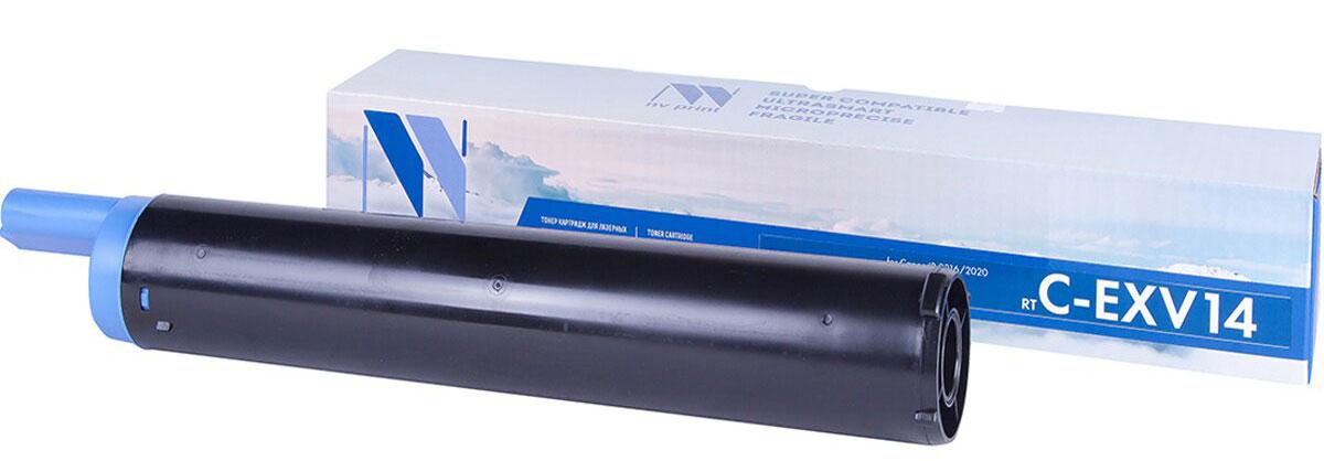 NV Print C-EXV14, Black тонер-картридж для Canon IR-2016/2020/2018/2022/2025/2030NV-CEXV14Совместимый лазерный картридж NV Print NV-CEXV14 для печатающих устройств Canon - это альтернатива приобретению оригинальных расходных материалов. При этом качество печати остается высоким. Картридж обеспечивает повышенную чёткость чёрного текста и плавность переходов оттенков серого цвета и полутонов, позволяет отображать мельчайшие детали изображения.Лазерные принтеры, копировальные аппараты и МФУ являются более выгодными в печати, чем струйные устройства, так как лазерных картриджей хватает на значительно большее количество отпечатков, чем обычных. Для печати в данном случае используются не чернила, а тонер.