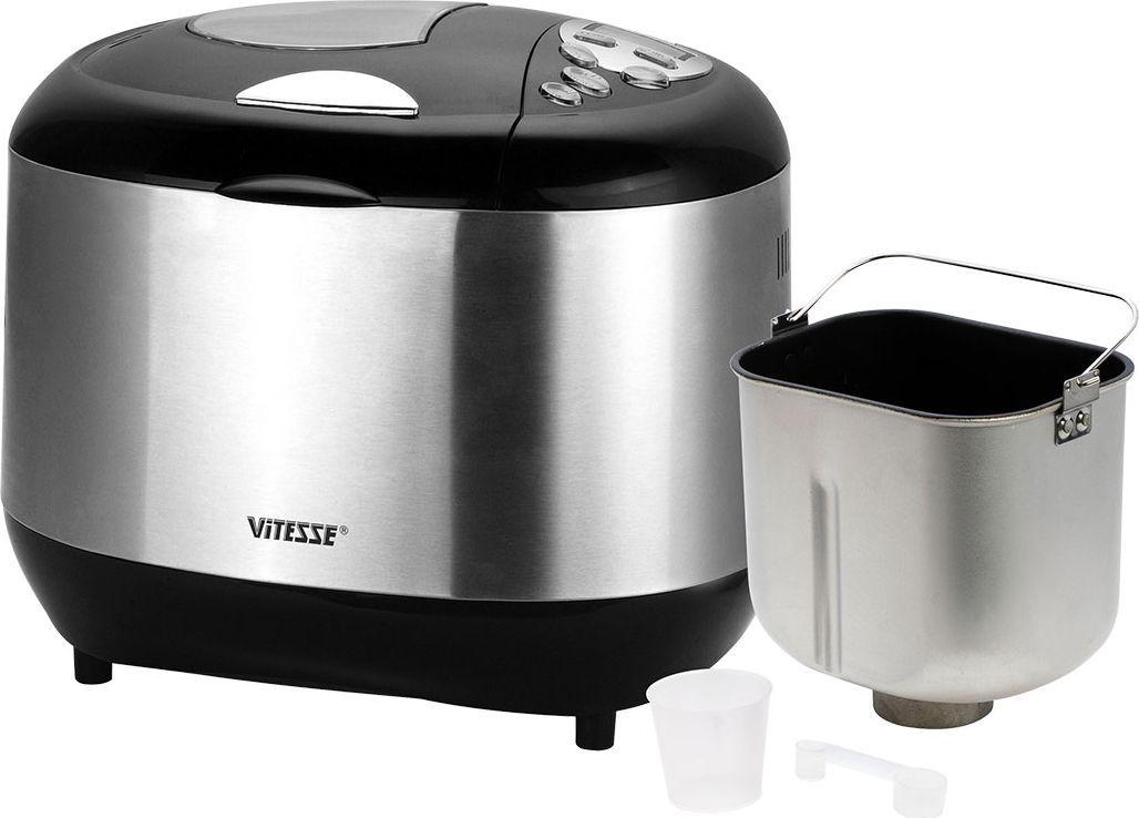 Vitesse VS-428 хлебопечкаVS-428Vitesse VS-428 - вес выпечки 675 г, вес выпечки регулируется, выпечка в форме буханки, выбор цвета корочки, 12 автоматических программ, быстрая выпечка, варка джема.