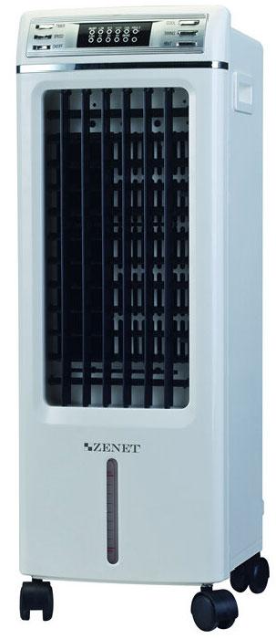 Zenet LFS-703C климатический комплексZENET LFS-703CLFS-703C – является климатическим комплексом с отличными функциями, которые способствуют: обогреву, увлажнению, охлаждению, ионизации, вентиляции и очистке воздуха. При помощи, которых можно его применять круглый год.ZENET LFS-703C активно очищает помещение от пыли и загрязненного воздуха, устраняет аллергены, газы, микроорганизмы, бактерии, аллергенную шерсть животных. Эффективно убирает запахи табачного дыма и другие неприятные ароматы.Производит антибактериальную очистка воздуха, уровень которой достигает 95%.Комплекс ZENET LFS-703C великолепно справляется с задачей, увлажняет и очищает, служит для нагрева воздуха в помещении. Это великолепная система для тех, кто страдает заболеваниями дыхательных путей. Свойства и особенности: Освежает и охлаждает в помещении воздух на 3-5°С; Увлажняет и ароматизирует, защищает от простудных заболеваний; Ионизирует воздух, осаждает частички пыли, убивает вредные микроорганизмы, насыщает воздух отрицательными аэроионами; Происходит многоступенчатая очистка воздуха; Вентиляция осуществляется в 3 режимах; Используется круглый год; Очищает воздух от аллергенов, бактерий, микроорганизмов и др. Удаляет неприятные запахи; Очистка воздуха составляет ? 95% Незаменим для аллергиков; Работает по таймеру; Работает на выбранном уровне мощности; Равномерно распределяет охлажденный воздух в помещении; Работа в режиме Swing.Дополнительные характеристики :Тип управления МеханическоеВремя непрерывной работы без долива воды 24 часРежимы работы Охлаждение, Обогрев, Очистка воздуха, Увлажнение воздухаПодсветка Потребляемая мощность 70втНочной режим работы Цвет корпуса БелыйФильтр HEPA-фильтр, Предварительный фильтрТаймер Уровень шума 60ДбОбъем резервуара для воды 4литраСпособ увлажнения воздуха - паровойПроизводительность увлажнения 0.5 л/чРежим охлаждения 3-5 градусов ниже температура окр. среды Число ступеней очистки 2Тип питания Сеть 220 ВСетевой адаптер НетВес 6 кгДлина сетевого шнура 1.5 метра