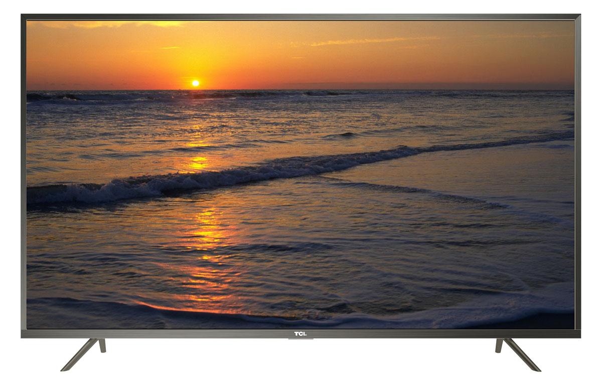 TCL L43P2US, Steel телевизорL43P2USНа экране телевизора TCL L43P2US вы всегда будете видеть идеальное изображение формата 4К, вне зависимости от качества видеосигнала. За его обработку отвечает высокопроизводительный 64-х битный процессор, автоматически анализирующий и конвертирующий картинку и звук. Загружайте новый контент, смотрите фильмы, слушайте музыку - в наилучшем качестве!Сверхчеткое изображение нового телевизора TCL позволит в динамике рассмотреть ранее недоступные мельчайшие детали, наслаждаясь насыщенностью цветов и контрастностью! Стандарт видеоизображения позволяет просматривать фильмы и компьютерную графику в разрешении 4К - 3840 x 2160.Телевизор TCL L43P2US имеет самую современную технологию прорисовки полутонов, позволяющую добиваться невероятной реалистичности картинки. Вы видите на экране до миллиарда тончайших цветовых тонов, которые делают изображение неотличимым от оригинала.Smart-телевизор TCL откроет для вас новый мир, объединяющий сотни и тысячи телеканалов, интернет-серфинг и вселенные онлайн-игр. Загружайте любимые фильмы, делитесь своими лучшими фотографиями и видеозаписями в социальных сетях, слушайте музыку и узнавайте интересующие вас новости с помощью удобных предустановленных приложений.Процессор 4K в сочетании с технологией UHD Upscaling передает цвета более естественно в ярких сценах, делая изображение реалистичнее. Поддержка масштабирования изображения до разрешения 4К при просмотре видео обеспечивает невероятное богатство деталей, естественную цветопередачу и контрастность, а тональные переходы получаются более плавными.