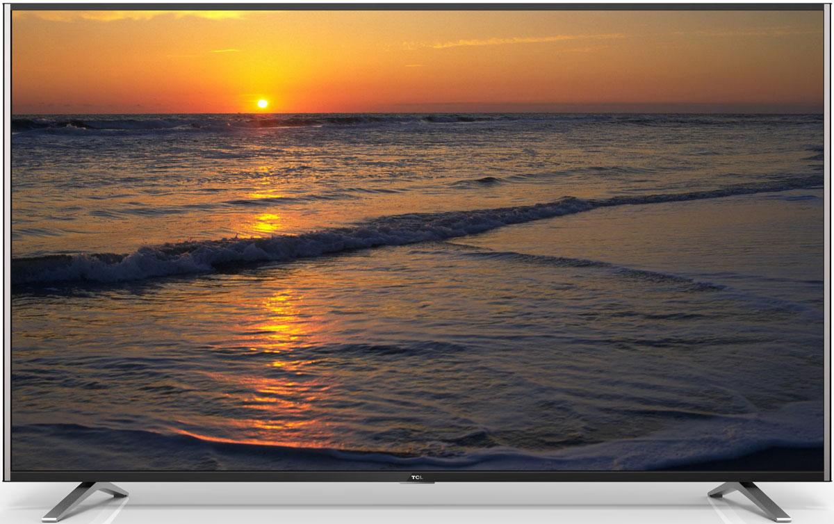 TCL L50C1US, Black телевизорL50C1USТелевизор TCL L50C1US представлен в плоском корпусе. Легко впишется в любой интерьер, а специальная возможность крепления телевизора на стену позволит разместить устройство с максимальным удобством. Может похвастаться современным дизайном корпуса и тонкими рамками экрана.Устройство поддерживает современный формат HDR (High Dynamic Range), предназначенный для повышения прорисовки полутонов на экране телевизора и позволяющий максимально приблизить реалистичность телевизионной картинки к оригиналу. Телевизор с HDR создает более привлекательное для глаза изображение, расширяя диапазон передачи цветовых оттенков и позволяя зрителю различать до миллиарда тончайших цветовых тонов. Широкий угол обзора дает также возможность получать отличное качество картинки без искажения.Тонкий 4K LED телевизор L50C1US от TCL позволяет открыть для себя новое качество изображения в формате 4К. Невероятная четкость стала возможной благодаря мощному шестиядерному графическому процессору. Каждый кадр подвергаются тщательному анализу, после чего выполняется улучшение качества отображения текстур, контрастности, цветопередачи и контуров. Детализация изображения при использовании подобных технологий в 4 раза выше, чем у телевизоров Full HD.TCL L50C1US поддерживает функцию Motion Estimation and Motion Compensation. Это возможность преобразования частоты кадров видео, позволяющая видеть действие на экране более плавным, чётким и реалистичным. Технология позволяет видеть самые мелкие детали изображения, даже в том случае, когда объекты на экране движутся молниеносно.Оптимизация звука и изображения дает возможность в полной мере наслаждаться просмотром динамичных фильмов или спортивных соревнований, обеспечивая полный эффект присутствия.Smart-телевизор откроет для своих обладателей новый мир увлекательных и полезных функций, которые разнообразят жизнь пользователей и превратят устройство в настоящего друга и персонального помощника. Телевизор оснащен операционной с
