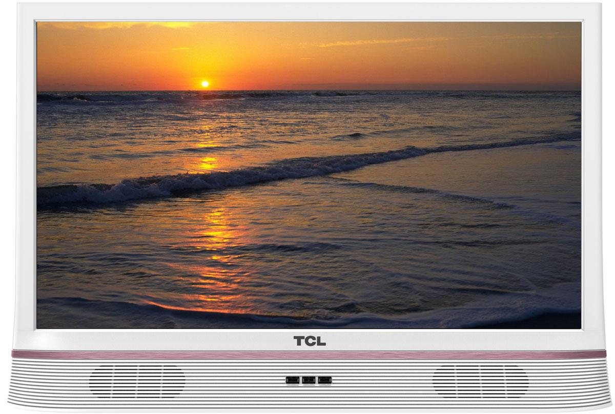 TCL LED24D2900S, White телевизорLED24D2900SТелевизор TCL LED24D2900S успешно совмещает в себе все функции, присущие полноценному развлекательному медиацентру. Сочетание превосходного изображения и современных технологий предоставит вам возможность насладиться невероятно четким и ярким изображением. Источником сигнала для качественной реалистичной картинки служат не только цифровые эфирные и кабельные каналы, но и любые записи с внешних носителей, благодаря универсальному встроенному USB медиаплееру. Телевизор поддерживает все популярные форматы.Устройство имеет ряд умных функций. Например, таких как телетекст, таймер сна, родительский контроль.Звук Dolby Digital сделает обладателя ТВ участником событий вместе с киногероями. Стереофонический, мощный, обогащенный басами звук никого не оставит равнодушным.Стильный корпус легко впишется в любой интерьер, а специальная возможность крепления телевизора на стену позволит разместить устройство с максимальным удобством.