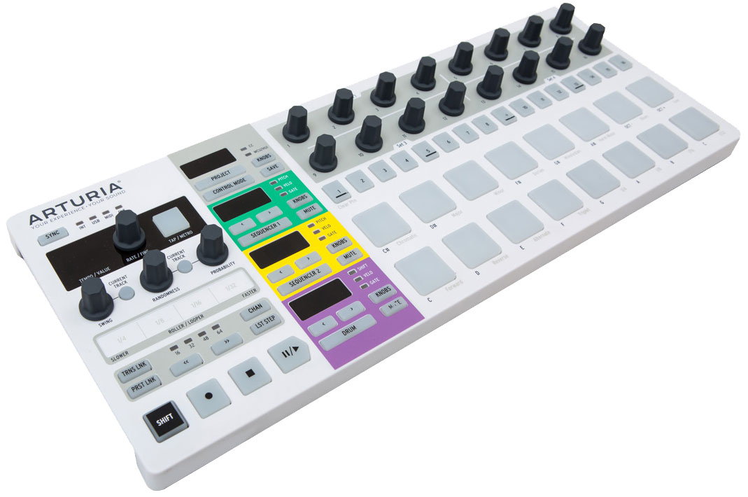 Arturia BeatStep Pro Black Edition, Black MIDI-клавиатура - Клавишные инструменты и синтезаторы