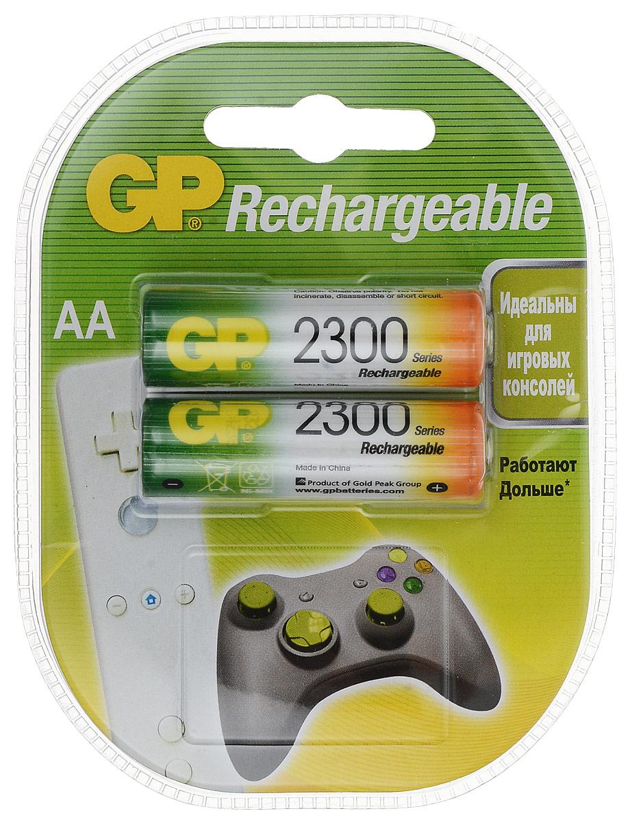 GP Batteries набор аккумуляторов NiMh тип АА, 2300 мАч (2 шт) набор аккумуляторов duracell aa nimh 2450 mah 2 шт