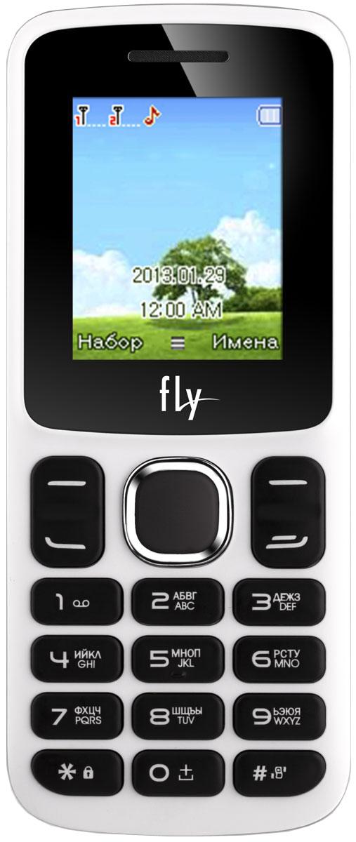 Fly FF179, White9516Мобильный телефон Fly FF179 оснащен 1,77-дюймовым экраном, созданным с применением технологии TN. За счет этого изображение на нем выглядит четким, ярким и контрастным.Встроенный проигрыватель дает возможность воспроизводить аудио- и видеофайлы популярных форматов. Кроме того, телефон можно использовать в качестве миниатюрного радиоприемника. Модель FF179 читает MP3-файлы и поддерживает работу с картами памяти на 16 Гб. Мобильный телефон помогает экономить на оплате счетов за услуги связи. Он поддерживает две SIM-карты стандартных размеров, позволяя менять операторов или тарифы в зависимости от ситуации.Телефон оснащен емким аккумулятором 600 мАч. Максимальная продолжительность работы устройства в режиме ожидания - 200 часов. При разговоре батареи хватает на 4 часа.Телефон сертифицирован EAC и имеет русифицированную клавиатуру, меню и Руководство пользователя.