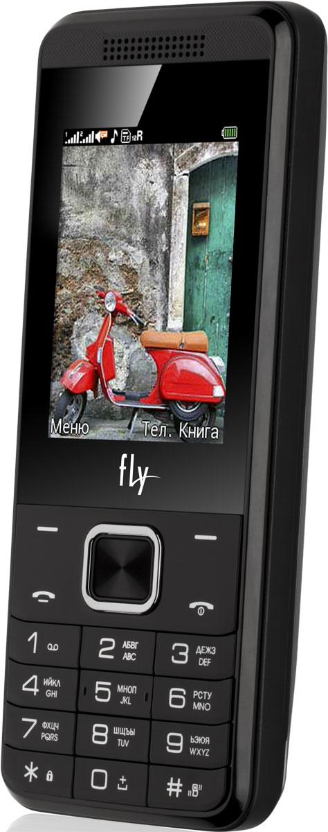 Fly FF245, Dark Grey9677Мобильный телефон Fly FF244 оснащен 2,4-дюймовым полноцветным дисплеем, удобным для повседневного использования. Применение технологии TN QVGA делает изображение на нем ярким и контрастным в любой ситуации.Встроенное ПО устройства позволяет воспроизводить аудио- и видеофайлы в популярных форматах, а также прослушивать любимые радиопередачи. Мультимедийные файлы можно записывать на карту памяти microSD емкостью до 32 Гб.Полного заряда мощного аккумулятора 3700 мАч хватает на 14 часов непрерывного разговора или 740 часов работы в режиме ожидания. К тому же функция Power Bank превращает телефон в удобное зарядное устройство для других мобильных устройств.Телефон оснащен камерой на 0,3 Мпикс с функцией записи видео, а также Bluetooth-модулем, предназначенным для беспроводной передачи данных.Поддержка двух SIM-карт позволяет использовать телефон в качестве личного и рабочего одновременно. Кроме того, с двумя SIM-картами можно уменьшать расходы, управляя тарифными планами различных мобильных операторов.Телефон сертифицирован EAC и имеет русифицированную клавиатуру, меню и Руководство пользователя.
