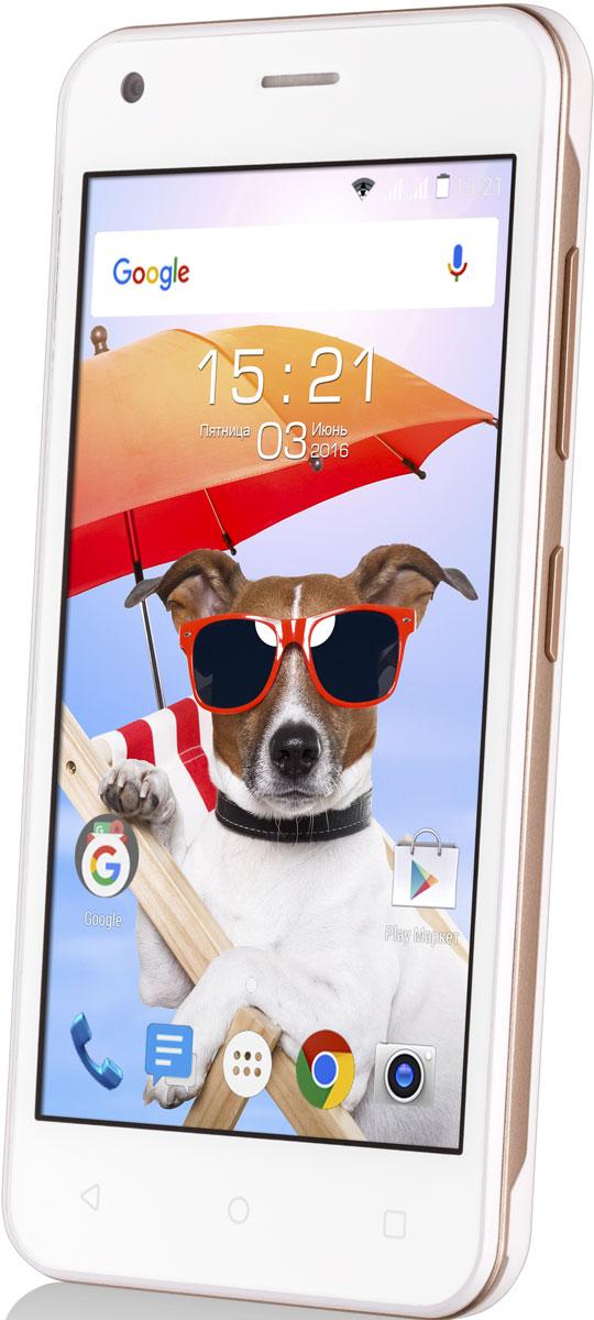Fly Nimbus 8 FS454, White9537Fly Nimbus 8 FS454 - смартфон, который создан для тех, кому важна легкость в управлении и современные технологии.Функция DOZE экономит заряд батареи для самых важных задач, автоматически включая спящий режим, когда вы не пользуетесь смартфоном.Функция APP STANDBY ограничивает расход батареи редко используемыми приложениями, благодаря чему Fly Nimbus 8 работает дольше.Операционная система Android обеспечивает слаженную работу смартфона, плавное переключение между окнами и бесперебойный сёрфинг в интернете.Подчеркните свой летний образ вместе с Fly Nimbus 8. Стильный корпус представлен в четырех цветах на любой вкус - черном, белом, зеленом и красном.С поддержкой скоростного 3G интернета вы сможете всегда быть на связи и иметь выход в Интернет, где бы вы ни находились, а работа двух активных SIM-карт расширит возможности мобильной связи и позволит сократить расходы.Компактный экран с диагональю 4.5 отличается быстрым откликом на прикосновения и низким уровнем потреблением энергии, а эргономичный корпус удобен для управления смартфоном одной рукой.Волшебство тёплых летних вечеров поможет запечатлеть 5-мегапиксельная камера с разрешением 2560 x 1920 пикселей, оснащённая мощной вспышкой и цифровым зумом.Телефон сертифицирован EAC и имеет русифицированный интерфейс меню и Руководство пользователя.