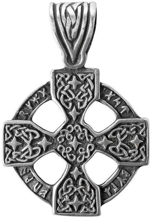 Амулет защитный Гифтман Рунический крест, материал: олово. Авторская работа. 71501Брошь-кулонАмулет, талисман. Можно использовать в виде подвески либо в виде брелока.Способствует учению, дарует тайные знания и магические способности.