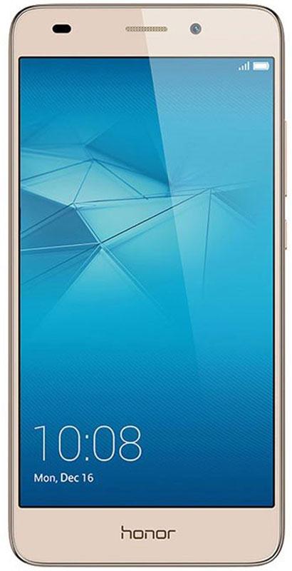 Huawei Honor 5C, Gold51090PQMСмартфон Huawei Honor 5C привлекает внимание металлическим корпусом и полноценным набором функций.По сравнению с процессорами предыдущего поколения с технологией 28 nm, новый чипсет Kirin 650 с технологией FinFET Plus 16 nm обеспечивает более высокую производительность и скорость работы смартфона.Мощный графический процессор Mali-T830 обеспечивает превосходное качество игр, его производительность на 100% выше, чем у процессора предыдущего поколения Kirin 620. Невероятное удобство при работе с телефоном достигается благодаря чипсету eMMC 5.1 и новому интерфейсу EMUI 4.1.Цельнометаллический алюминиевый корпус произведён с применением специальных технологий, создающих эффект рельефной полированной поверхности. Анодированное покрытие с защитой от царапин защищает корпус от коррозии и потёртостей.Основная камера 13 Мпикс с диафрагмой f/2.0 и широкоугольной макролинзой 5P 78° гарантирует высочайшее качество каждого снимка.Поддержка режима HDR, когда съёмка выполняется со вспышкой, для лучших портретных и групповых снимков. Режим HDR объединяет несколько фото в одно для достижения превосходного результата: лучшей экспозиции, чёткого фона и точной цветопередачи.Технология SmartImage 3.0 предлагает набор фильтров и режимов съёмки: Режим Свет позволяет запечатлеть ночную жизнь города, снять световое граффити или ночное небо.Система с двумя антеннами поддерживает автоматическое переключение между ними для обеспечения высокого качества сигнала.Соотношение экрана и передней панели корпуса – 74%. Экран LTPS GFF обеспечивает яркость изображений даже под прямыми солнечными лучами. Разрешение 1920 x 1080 (423 PPI), 16,7 миллионов цветов и IPS-матрица обеспечивают реалистичную цветопередачу.Динамик, расположенный в нижней части корпуса, обеспечивает чистоту и мощность звука. Умный усилитель оптимизирует процесс аудиовывода в режиме реального времени, применяя встроенный алгоритм DSP и аудиоэффекты SWS от компании Huawei, благодаря чему достигается объёмно