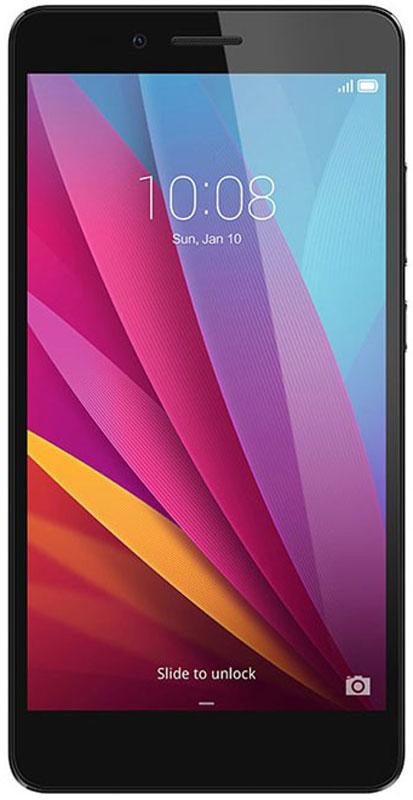 Huawei Honor 5X, Grey51090RTGСмартфон Huawei Honor 5X элегантно выглядит, хорошо лежит в руке, позволяет комфортно общаться как при помощи телефонных звонков или SMS, так и в интернете.Специальная обработка задней панели придаёт эргономичность корпусу смартфона.Сканер второго поколения имеет округлую форму для точного определения отпечатка пальца, под любым углом за 0,5 секунды Самообучающийся датчик запоминает особенности отпечатка пальца каждый раз, когда вы используете сканер для разблокировки и управления смартфоном и увеличивает скорость разблокировки.Лёгкий старт: всего шесть прикосновений для сохранения отпечатка и начала работы. Конфиденциальность: защита персональных данных, ограниченный доступ к приложениям, режим гостя.Управление панелью уведомлений: проведя пальцем по сканеру сверху вниз вы откроете панель уведомлений, двойное прикосновение закроет все уведомления.Процессор Qualcomm Snapdragon и технология big.LITTLE - высокая производительность и низкое энергопотребление. Лёгкий запуск 3D игр и высоконагруженных программ благодаря графическому процессору.Одновременная работа трёх разъёмов - nano-SIM, micro-SIM и карта памяти microSD 4G может работать на обеих SIM-картах. Никаких различий в работе первой и второй SIM-карт. Антенна смартфона предоставляет высокую пропускную способность.Камера 13 Мпикс имеет широкий угол обзора 28 мм. Линза состоит из пяти элементов. Процессор SmartImage 3.0 используется для автоматической обработки изображений.Антибликовое покрытие увеличивает количество попадающего в объектив света и позволяет создавать чёткие фотографии даже в условиях низкой освещённости.В режиме замедленной съёмки камера записывает видео 120 кадров/секунду и воспроизводит в четыре раза медленнее оригинала.Настройки конфиденциальности позволяют скрывать приложения на экране Домой хранить личные файлы в безопасном месте и защищать вашу конфиденциальную информацию.Динамик и усилитель гарантируют кристально чистое звучание при разговоре и прослушивании му