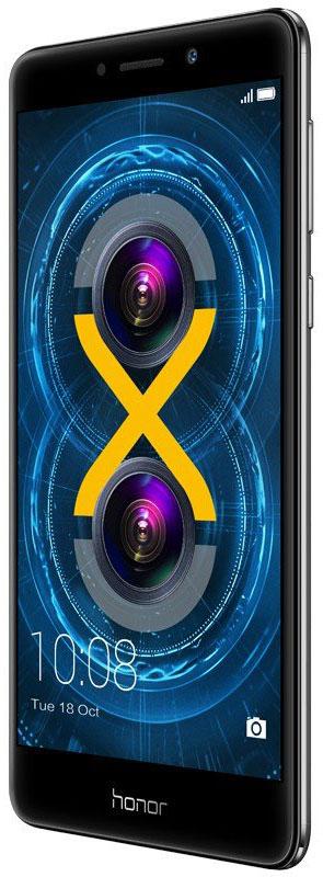 Huawei Honor 6X, Grey51091BFCСмартфон Huawei Honor 6X - ваш надежный помощник в процессе общения и отдыха.Двойная основная камера 12 Мпикс + 2 Мпикс позволит вам почувствовать себя настоящим фотографом. Запечатлейте лучшие моменты вашей жизни в высочайшем качестве.Эффект размытого фона и возможность изменять точку фокусировки на уже сделанных фото, благодаря двойной камере и широкому диапазону диафрагмы.Высочайшее качество цветопередачи, яркость и чистота изображений достигаются благодаря большому размеру пикселей - 1,25 µм, а технология изоляции пикселей и процессор обработки изображений Prim обеспечивают высочайшее качество снимков.Фронтальная камера 8 Мпикс снабжена широкоугольным объективом 77° и процессором обработки изображений Prim. Определение лиц и специальное программное обеспечение для съемки селфи перевернут ваше представление о фото, снятых фронтальной камерой.Honor 6X оснащен 8-ядерным процессором Kirin 655, созданным по технологии 16 нм, и 3 ГБ оперативной памяти. Это позволит вам играть, работать в Интернете, слушать музыку и использовать множество приложений одновременно без задержек.Батарея с увеличенной емкостью 3340 мАч позволит работать смартфону дольше, чем обычно. Ваши возможности будут практически безграничны: смартфон поддерживает до 11,5 часов просмотра видео, до 70 часов прослушивания музыки, до 8 часов игр без подзарядки. Больше никаких ограничений.Яркость 5,5 Full HD (1920 x 1080p) экрана достигает 450 нит, плотность пикселей составляет 403 PPI. Изображения на экране яркие и четкие даже под прямыми солнечными лучами.Режим защиты зрения снижает вредоносное УФ-излучение экрана, предотвращая усталость глаз. Прочное стекло с защитой от царапин сохранит отличный внешний вид смартфона надолго.Сканер отпечатка пальца третьего поколения позволяет разблокировать смартфон за 0,3 секунды касанием пальца.Интерфейс EMUI 4.1 предоставляет новые функции: режим нескольких окон, позволяющий открывать несколько приложений одновременно на одном экране, фун