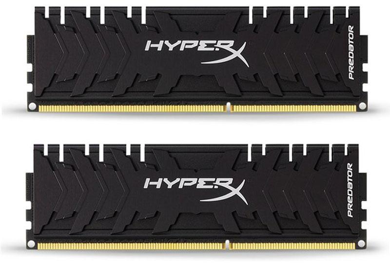 Kingston HyperX Predator DDR3 DIMM 8GB (2х4GB) 2400МГц комплект модулей оперативной памяти (HX324C11PB3K2/8)HX324C11PB3K2/8Обеспечьте высокую скорость работы вашего ПК на базе процессора AMD или Intel с помощью модулей памяти Kingston HyperX Predator DDR3.Посейте страх в сердцах своих соперников с помощью агрессивного теплоотвода в стильном черном цвете. Увеличьте частоту обновления кадров, обеспечьте плавное потоковое вещание и быстрое редактирование видео, благодаря частоте до 2400 МГц.Профили Intel XMP оптимизированы для новейших чипсетов Intel - для максимальной скорости работы вам нужно просто выбрать соответствующий профиль. Благодаря 100% заводскому тестированию на рабочей частоте и пожизненной гарантии, надежные модули памяти Kingston HyperX Predator обеспечивают оптимальное сочетание высокой производительности и максимальной уверенности.