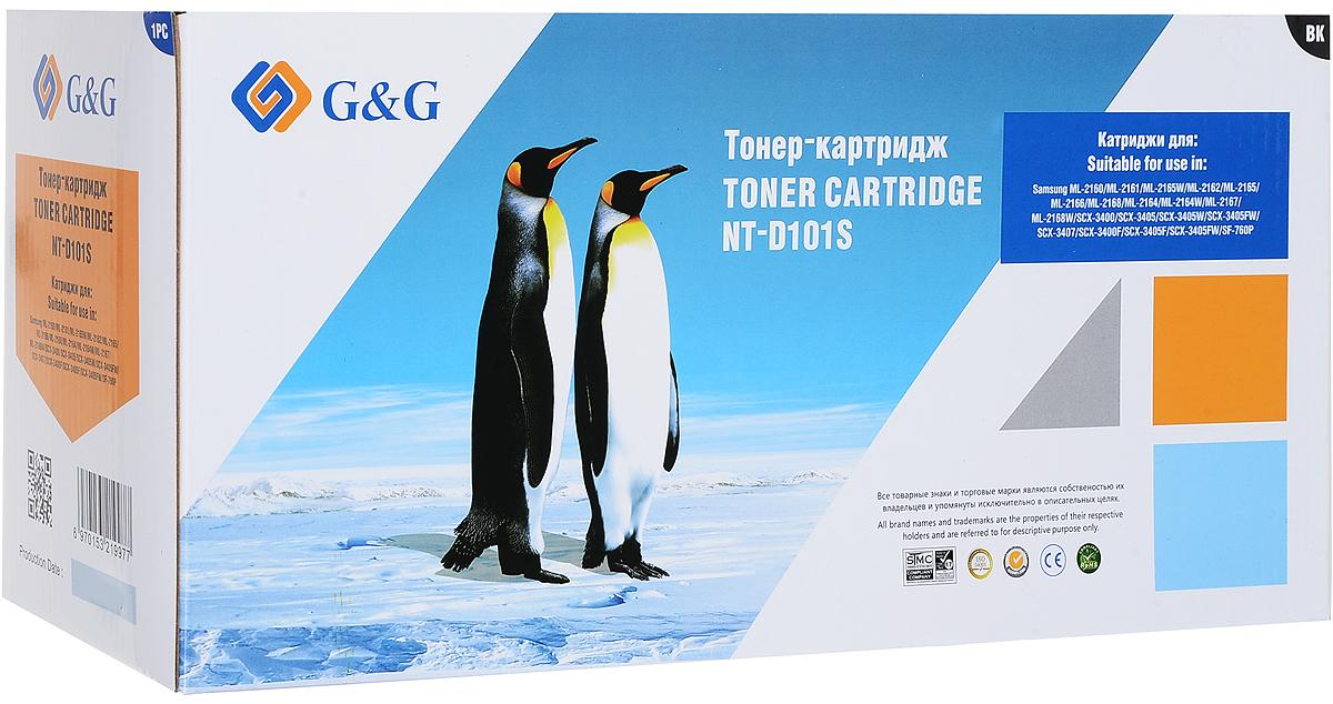 G&G NT-D101S тонер-картридж для Samsung ML-2160/2161/2162/2165/2166/2168/SCX-3400/3405NT-D101SТонер-картридж G&G NT-D101S для лазерных принтеров Samsung ML-2160/2161/2162/2165/2166/2168/SCX-3400/3405.Расходные материалы G&G для лазерной печати максимизируют характеристики принтера. Обеспечивают повышенную чёткость чёрного текста и плавность переходов оттенков серого цвета и полутонов, позволяют отображать мельчайшие детали изображения. Обеспечивают надежное качество печати.