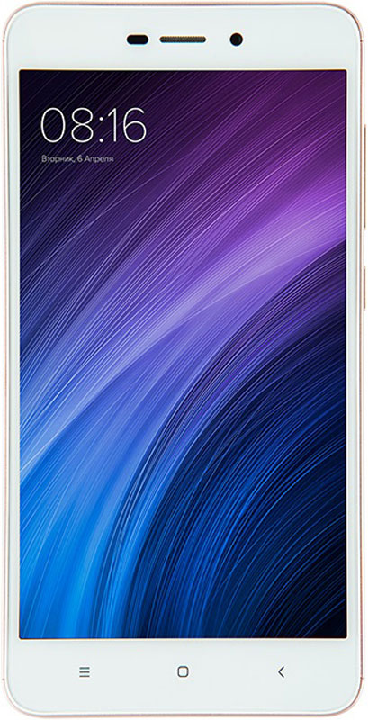 Xiaomi Redmi 4A (16GB), Rose GoldT034006Смартфон Xiaomi Redmi 4A стал более миниатюрным, а также обрел продолжительный автономный режим. Обладая пятидюймовым HD экраном и объемным аккумулятором в 3120 мАч, Redmi 4A весит всего лишь 131 г, а благодаря шелковистому матовому пластиковому корпусу и миниатюрным габаритам, вы вовсе не захотите выпускать его из рук.Xiaomi Redmi 4A снабжен энергоемким аккумулятором объемом в 3120 мАч, который, будучи дополненным системой MIUI8 с экономичным расходом энергии на системном уровне, а также множеством различных энергосберегающих технологий, внедренных в экран и процессор, позволяет смартфону продлить автономный режим до 7 дней.Основная камера с разрешением в 13 мегапикселей, позволит вам максимально реалистично сохранить все воспоминания: от встреч с друзьями до красивейших пейзажей. Вы устали от сортировки фотографий? Не проблема, ведь теперь смартфон не только сам может разделять снимки по альбомам и сортировать их по дате съемки, но и позволит в движении просматривать панорамные снимки, а также сохранит все скриншоты в отдельном, специально предназначенном альбоме.Встроенная функция клонирования телефона, активируемая в настройках, поможет смартфону обрести два отдельных системных пространства, одно из которых вы можете использовать, например, для повседневных дел, а второе - для своих маленьких секретов. С помощью разных ключей блокировки можно попасть в разные системные пространства, также можно открыть личные аккаунты, раздельно сохранять личные фотографии и коммерческие тайны, как будто вы имеете два телефона вместо одного.64-разрядный процессор с улучшенными техническими характеристиками Qualcomm Snapdragon 425, поддерживающий Cortex A53, улучшил вычислительные способности смартфона, а при помощи графического процессора Adreno 308, Redmi 4A сможет мгновенно открывать не только приложения, но и объемные 3D игры.Помимо выдающегося качества изображения, 5-дюймовый HD экран Redmi 4A также заботливо предоставляет режим защиты