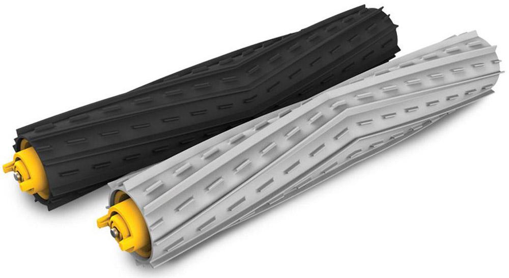 iRobot комплект 2 валика-скребка для Roomba 800 и 900 серииiR102Комплект из двух валиков-скребков для робота-пылесоса iRobot Roomba 800 и 900 серии. Валики состоят из эластичной резины, а также оборудованы защитными колпачками подшипников. Легко демонтируются и монтируются в щеточный узел. Благодаря плотному прилеганию к друг другу, создается мощный воздушный поток обеспечивающий большую силу всасывания.