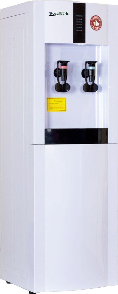 Aqua Work 16LD/EN, White кулер для воды10464Классический напольный кулер для воды с электронной системой охлаждения Aqua Work 16-LD/EN.Нагрев - не меньше 7 литров в час до температуры 90-96°С (мощность 700 Вт, бак объемом 1 литр)Охлаждение - 1 литр в час на 12-15 градусов ниже температуры окружающей средыСтрогий минималистический дизайнИндикаторы режимов работы (подключение к сети, нагрев и охлаждение) выведены в черном прямоугольном блоке вверху аппаратаИзготовленный из стали корпус диспенсера дает возможность устанавливать стаканодержатели и на шурупах и на магнитах