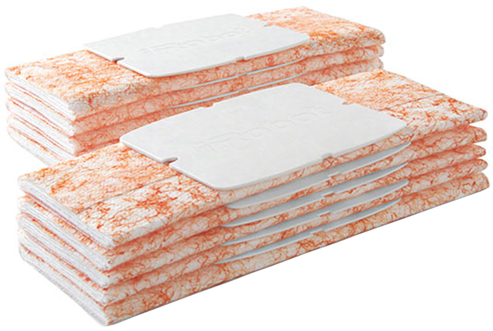 iRobot набор одноразовых салфеток для влажной уборки Braava Jet, 10 штJ3Одноразовые салфетки для робот-полотера Braava Jet предназначены для влажной уборки.Преимущества:Уборка пола в один проходИспользуется только вода, не содержит детергентовРазработаны специально для деревянных и каменных полов, а также для напольной плиткиОбладают приятным ароматом