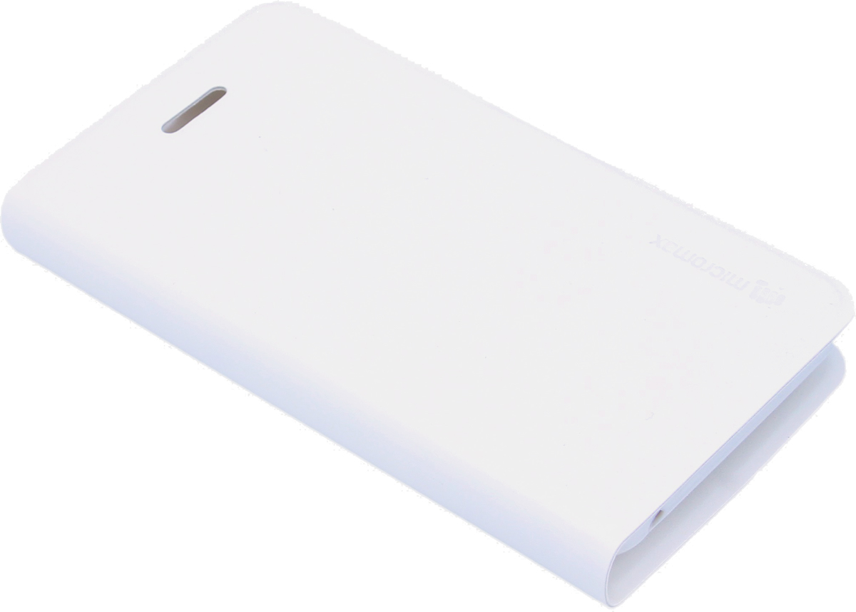 Micromax чехол-книжка для Q301, White6949312318103