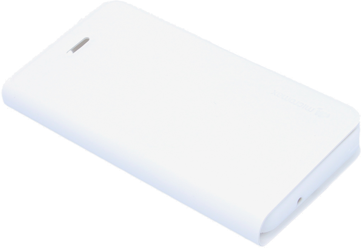 Micromax чехол-книжка для Q326, White6949312318127