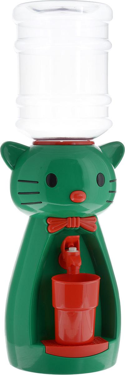 Vatten Kids Kitty, Green кулер (со стаканчиком)5283_зеленыйДетский кулер Vatten Kids Kitty для любимых напитков вашего ребёнка!Папы и мамы тоже могут присоединиться!Отлично подойдет для применения в детской, на кухне, в офисе и на пикнике.Чисто и гигиеничноЛегко налить 8 стаканов воды или любимых напитков. Ваш самостоятельный ребёнок не обожжётся, не зальёт соседей водой и не будет ходить за вами с чашкой. Никаких проводов и электричества.Объем бутылки: 2,5 л.Уважаемые клиенты! Обращаем ваше внимание на цветовой ассортимент стаканчиков. Поставка осуществляется в зависимости от наличия на складе.