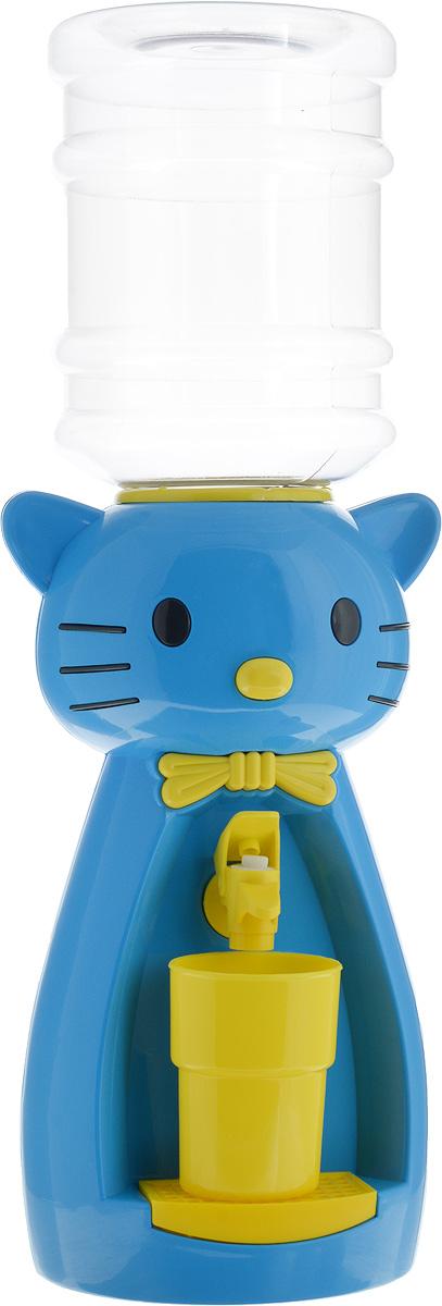 Vatten Kids Kitty, Blue Yellow кулер (со стаканчиком)5283_синийДетский кулер Vatten Kids Kitty для любимых напитков вашего ребёнка!Папы и мамы тоже могут присоединиться!Отлично подойдет для применения в детской, на кухне, в офисе и на пикнике.Чисто и гигиеничноЛегко налить 8 стаканов воды или любимых напитков. Ваш самостоятельный ребёнок не обожжётся, не зальёт соседей водой и не будет ходить за вами с чашкой. Никаких проводов и электричества.Объем бутылки: 2,5 л.Уважаемые клиенты! Обращаем ваше внимание на цветовой ассортимент стаканчиков. Поставка осуществляется в зависимости от наличия на складе.