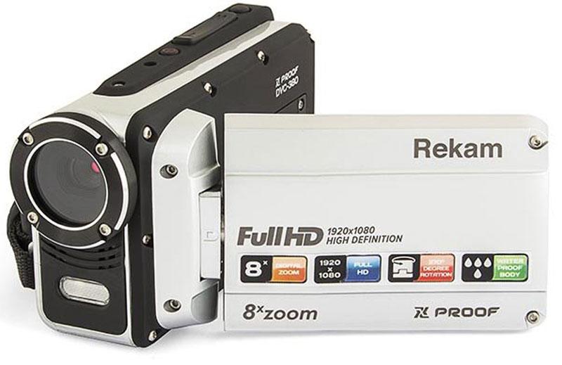 Rekam Xproof DVC-380 цифровая видеокамера2504000003Rekam Xproof DVC-380 - простая в использовании и качественная защищенная видеокамера, которая снимает видео в разрешении Full HD и позволяет запечатлеть самые интересные и экстремальные моменты активного отдыха.Важной характеристикой корпуса является его водонепроницаемость, которая дает возможность использования устройства не только под дождем, но и на небольшой глубине.Данная модель поддерживает установку microSD, microSDHC-карты объемом до 32 ГБ. Камера питается от собственного аккумулятора, емкость которого равна 800 мАч.Разрешение фото: 5120x3840 (20 Mпикс)Стабилизация изображенияОпределение лицаОпределение улыбкиСерийная съемкаТаймерСцены