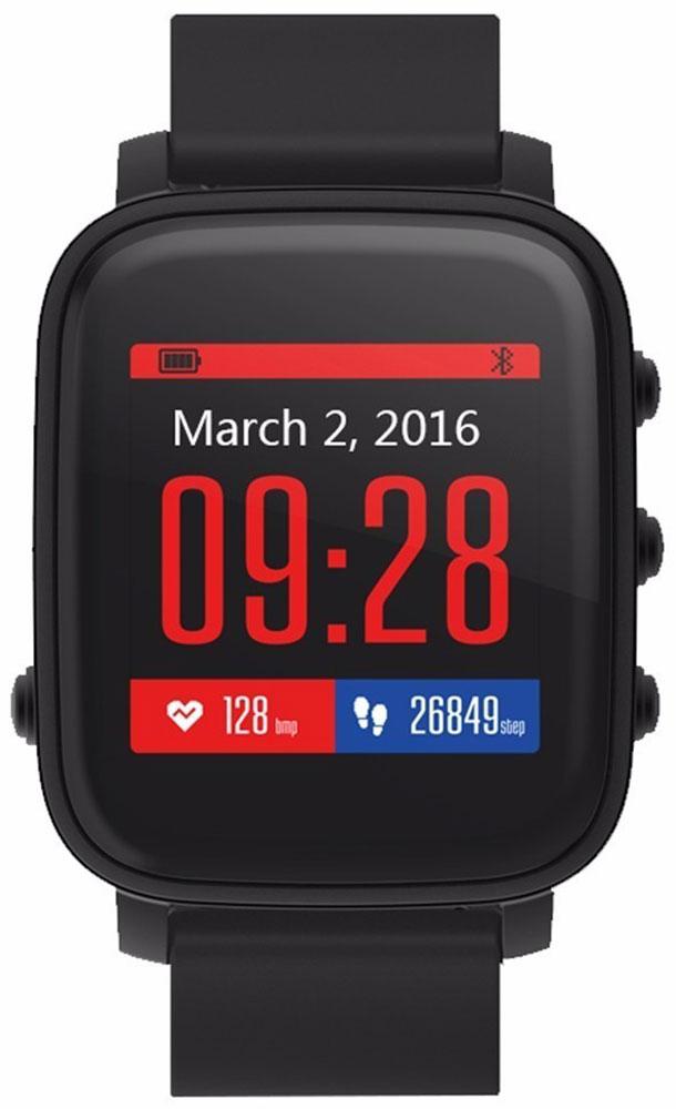 SMA Time смарт-часы, BlackSMA-Q2-BLK/BLKSMA Time - спортивные и стильные часы от SMA, обладающие хорошим 1.28-дюймовым дисплеем и простым пользовательским интерфейсом. Часы обладают как смарт-функциями, так и возможностями отслеживания вашего физического состояния. Они на протяжении всего дня автоматически считают количество пройденных шагов, сожженных калорий, показания пульса и оценивают качество и длительность сна. Идеальное сочетание умных часов с фитнес-трекером.Корпус изготовлен из высококлассного алюминиевого сплава, который придает часам одновременно легкость и высокую прочность. Диагональ дисплея составляет 1,28 дюйма, разрешение 176x176 пикселей.Для управления часами используются четыре функциональные клавиши на корпусе - одна на левой части корпуса и три на правой части. Ремешок выполнен из силикона и доступен в нескольких цветах: черном, красном и синем.Bluetooth 4.0 позволяет синхронизировать часы со смартфонами на базе Android и iOSMemory LCD дисплей, который читается при любых условиях и почти не тратит зарядФитнес-функции: подсчет количества шагов и сожженных калорийОценка длительности и качества сна с вибробудильникомВстроенный датчик ЧСС для отслеживания показаний пульсаРежим для бега с определением зон пульсаНапоминания о неактивности: часы попросят походить, если вы засиделисьСмарт-функции: отображение уведомлений и напоминанийРазнообразные циферблатыДо 40 дней в режиме ожидания, до 20 дней активного использованияЗащита от пыли и влаги по стандарту 3ATM