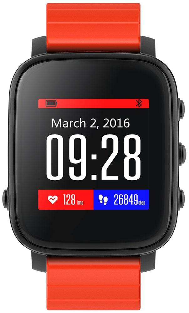 SMA Time смарт-часы, Black RedSMA-Q2-BLK/RDSMA Time - спортивные и стильные часы от SMA, обладающие хорошим 1.28-дюймовым дисплеем и простым пользовательским интерфейсом. Часы обладают как смарт-функциями, так и возможностями отслеживания вашего физического состояния. Они на протяжении всего дня автоматически считают количество пройденных шагов, сожженных калорий, показания пульса и оценивают качество и длительность сна. Идеальное сочетание умных часов с фитнес-трекером.Корпус изготовлен из высококлассного алюминиевого сплава, который придает часам одновременно легкость и высокую прочность. Диагональ дисплея составляет 1,28 дюйма, разрешение 176x176 пикселей.Для управления часами используются четыре функциональные клавиши на корпусе - одна на левой части корпуса и три на правой части. Ремешок выполнен из силикона и доступен в нескольких цветах: черном, красном и синем.Bluetooth 4.0 позволяет синхронизировать часы со смартфонами на базе Android и iOSMemory LCD дисплей, который читается при любых условиях и почти не тратит зарядФитнес-функции: подсчет количества шагов и сожженных калорийОценка длительности и качества сна с вибробудильникомВстроенный датчик ЧСС для отслеживания показаний пульсаРежим для бега с определением зон пульсаНапоминания о неактивности: часы попросят походить, если вы засиделисьСмарт-функции: отображение уведомлений и напоминанийРазнообразные циферблатыДо 40 дней в режиме ожидания, до 20 дней активного использованияЗащита от пыли и влаги по стандарту 3ATM